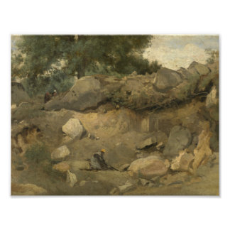 Jean-Baptiste-Camille Corot - Stone Mine Photo Print