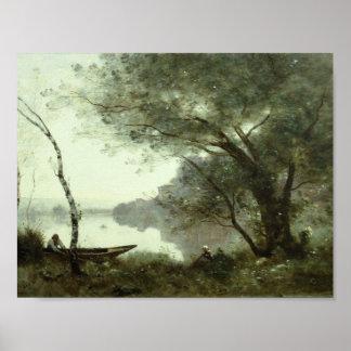 Jean-Baptiste-Camille Corot - The Boatman Poster