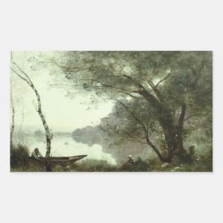 Jean-Baptiste-Camille Corot - The Boatman Rectangular Sticker