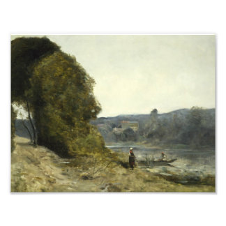 Jean-Baptiste-Camille Corot - The Departure Photo Print