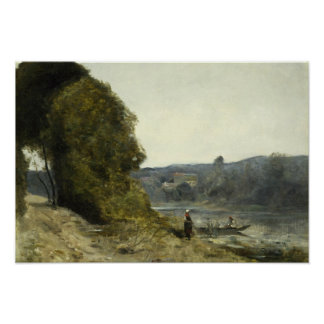 Jean-Baptiste-Camille Corot - The Departure Poster