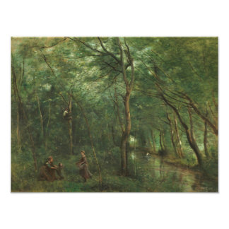 Jean-Baptiste-Camille Corot - The Eel Gatherers Photo Print