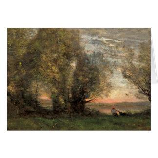 Jean-Baptiste-Camille Corot - The Fisherman Card