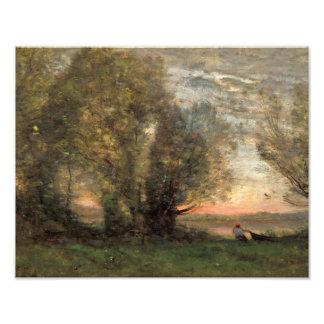 Jean-Baptiste-Camille Corot - The Fisherman Photo Print