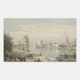 Jean-Baptiste-Camille Corot - The Harbor Rectangular Sticker