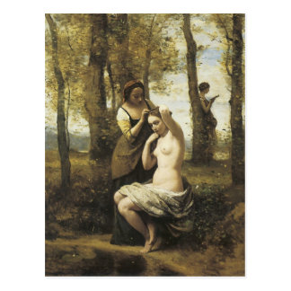 Jean-Baptiste-Camille Corot The Toilette Postcard