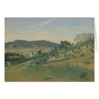 Jean-Baptiste-Camille Corot - View of Olevano Card