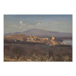 Jean-Baptiste-Camille Corot-Villeneuve-les-Avignon Photo Print