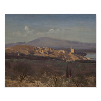 Jean-Baptiste-Camille Corot-Villeneuve-les-Avignon Poster