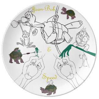 "Jean-Bob&Speed Porcelain Sketch Plate (10.75"")"