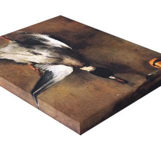 Jean Chardin:Green Neck Duck with a Seville Orange Canvas Prints