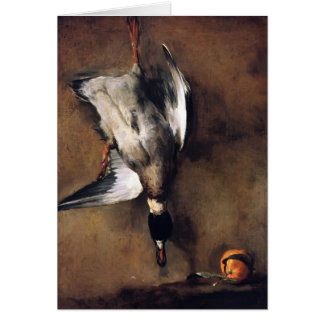 Jean Chardin Green Neck Duck with a Seville Orange Greeting Card