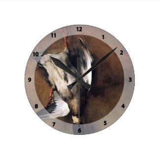 Jean Chardin Green Neck Duck with a Seville Orange Round Clocks