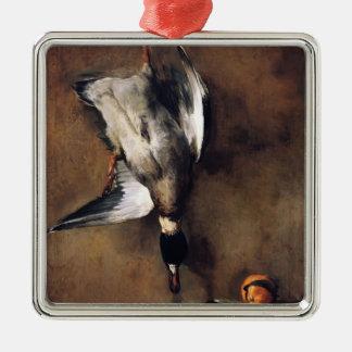 Jean Chardin:Green Neck Duck with a Seville Orange Ornaments