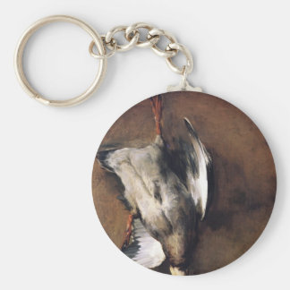 Jean Chardin Green Neck Duck with a Seville Orange Key Chain