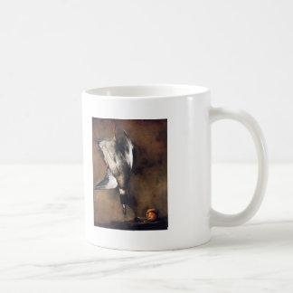 Jean Chardin:Green Neck Duck with a Seville Orange Basic White Mug