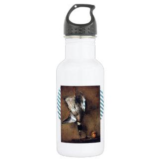 Jean Chardin:Green Neck Duck with a Seville Orange 532 Ml Water Bottle