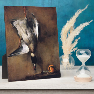 Jean Chardin:Green Neck Duck with a Seville Orange Plaque