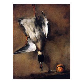 Jean Chardin:Green Neck Duck with a Seville Orange Postcard