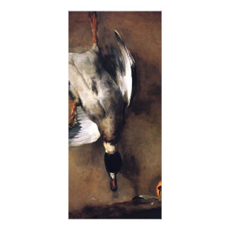 Jean Chardin Green Neck Duck with a Seville Orange Rack Card