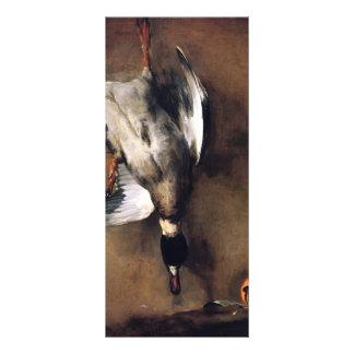 Jean Chardin Green Neck Duck with a Seville Orange Rack Card