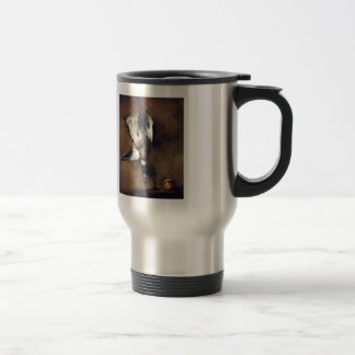 Jean Chardin:Green Neck Duck with a Seville Orange Stainless Steel Travel Mug