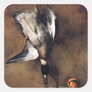 Jean Chardin:Green Neck Duck with a Seville Orange Square Sticker