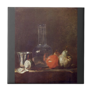 Jean Chardin - Still Life with Glass and fruits Tile