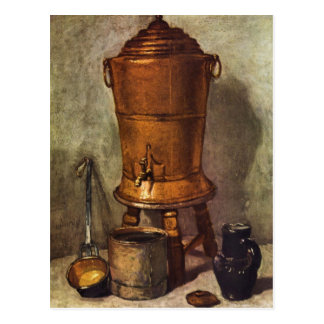 Jean Chardin - The water tank Postcard