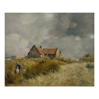 Jean Charles Cazin - Cottage in the Dunes Poster