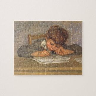 Jean Drawing by Pierre Renoir, Vintage Fine Art Jigsaw Puzzle