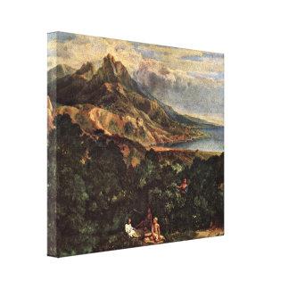 Jean-Francois Millet - Italian coastal scenery Canvas Print