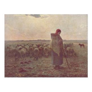 Jean-Francois Millet- Shepherdess Postcard
