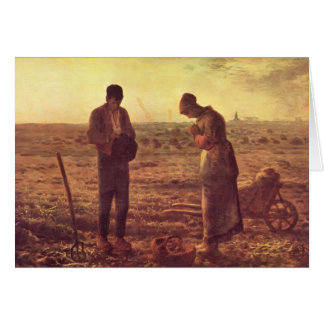 Jean-Francois Millet- The Angelus Card