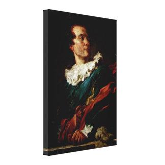 Jean-Honore Fragonard - The Abbe de Saint-Non Canvas Print