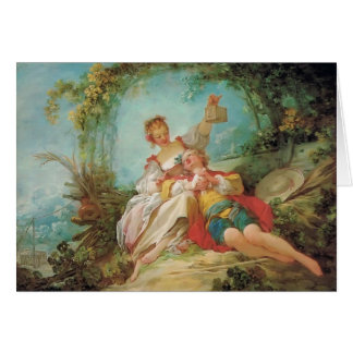 Jean-Honore Fragonard- The Happy Lovers Card