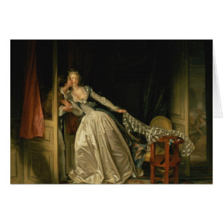 Jean-Honore Fragonard - The Stolen Kiss - Fine Art Card