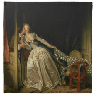 Jean-Honore Fragonard - The Stolen Kiss - Fine Art Napkin