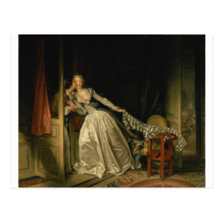 Jean-Honore Fragonard - The Stolen Kiss - Fine Art Postcard