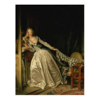 Jean-Honore Fragonard - The Stolen Kiss - Fine Art Postcard