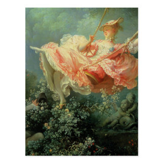 Jean-Honore Frangonard's rococo painting The Swing Postcard