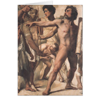 Jean Ingres- Study for Martyrdom of St. Symphorien Greeting Card