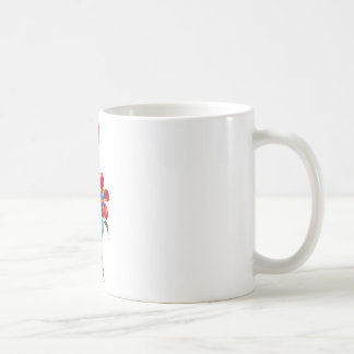 Jean Louis Prevost Red & Blue Tulip Bouquet Coffee Mug