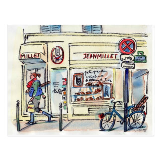 Jean Millet Patisserie Paris by Carol Gillott Postcard