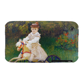 Jean Monet on a Mechanical Horse Claude Monet iPhone 3 Case-Mate Case