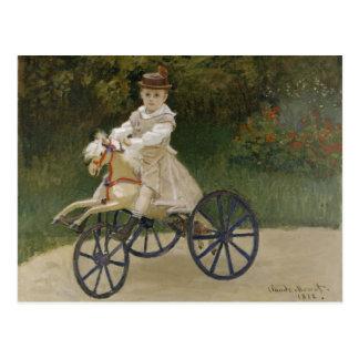 Jean Monet on his hobby horse Postcard