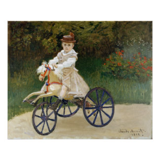 Jean Monet on His Hobby Horse Poster