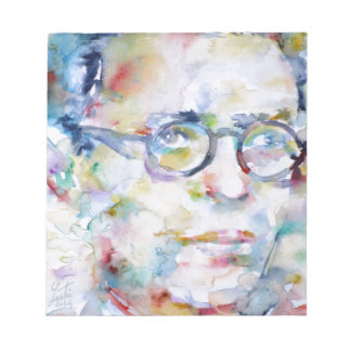jean paul sartre - watercolor portrait notepad