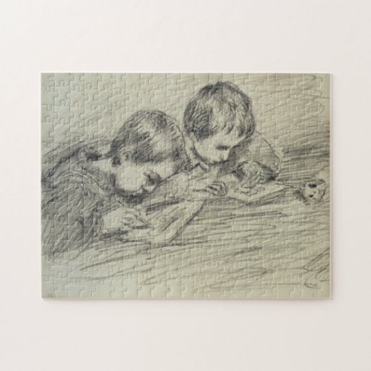 Jean-Pierre Hoschedé & Michel Drawing Monet Fine Jigsaw Puzzle