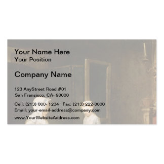 Jean-Simeon Chardin- The Hard working Mother Business Card Template